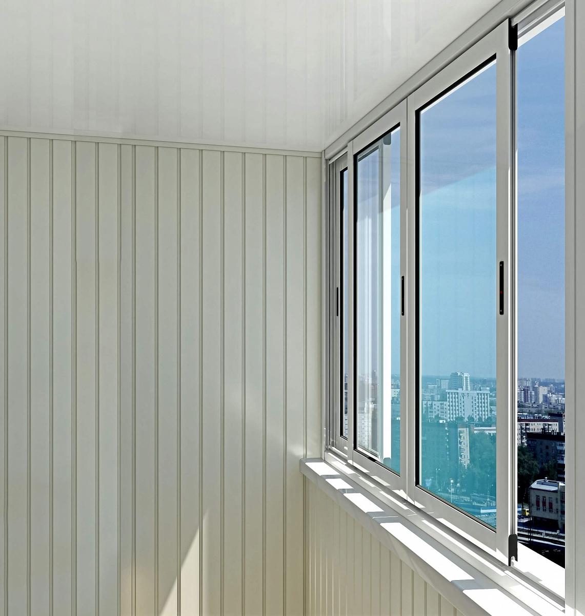Алюминиевые окна provedal с640 на балкон в зеленограде алюми.